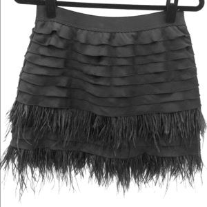 BCBG Ostrich Feather Skirt